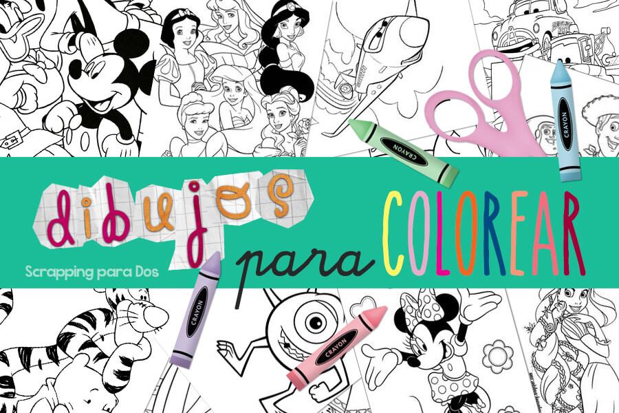 dibujos para colorear de Disney gratis