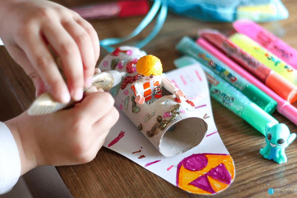 pintar rollos de cartón