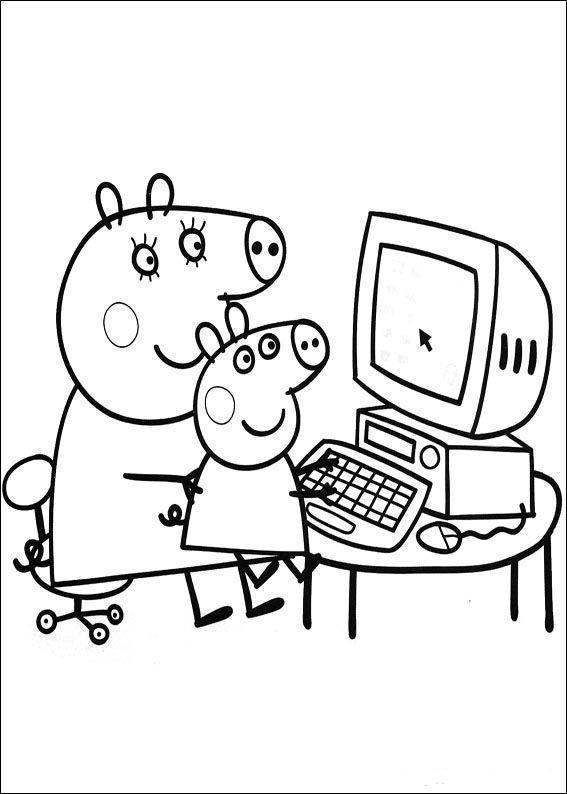 dibujos para colorear de peppa pig