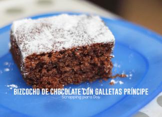Bizcocho de Chocolate con Galletas Príncipe
