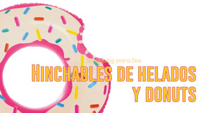 Hinchables de Helados y Donuts para la Playa y la Piscina