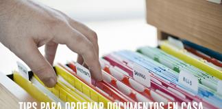 Organizar documentos en casa