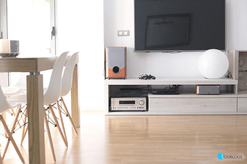 mueble de salón para televisión minimalista