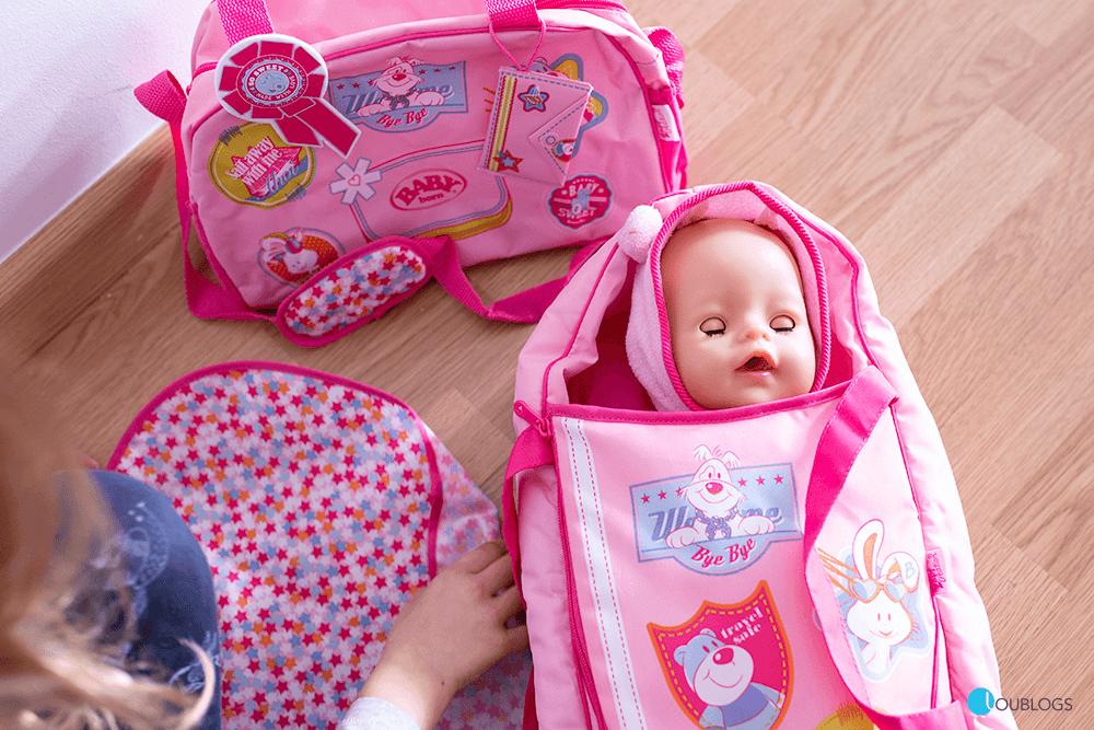 Capazo y mochila para jugar con Baby Born