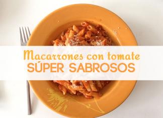 Macarrones con tomate sabrosos y fáciles