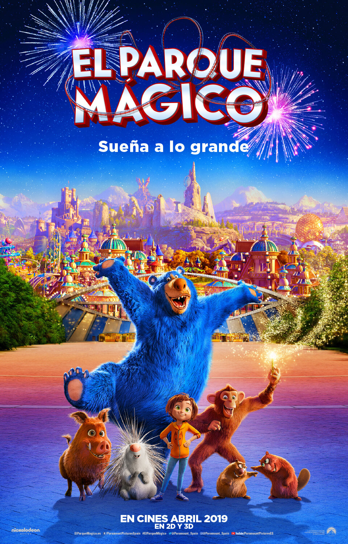 poster oficial en español de El Parque Mágico película
