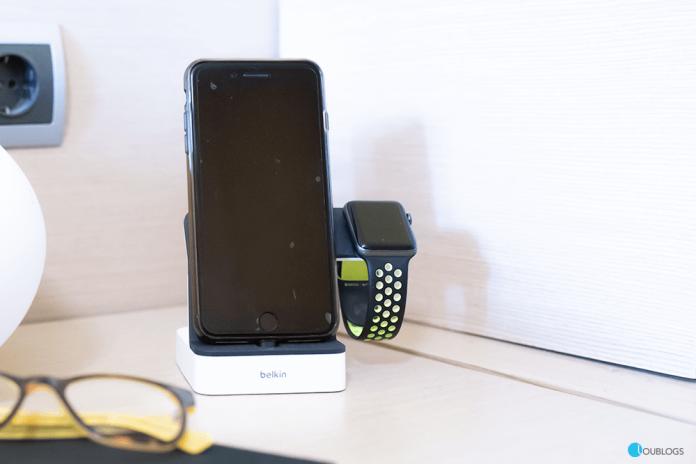Base de carga Belkin PowerHouse para Apple Watch y iPhone