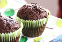 Receta fácil de magdalenas de chocolate SIN GLUTEN