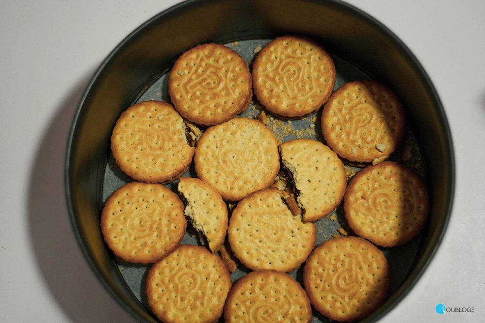 Tarta de queso Mascarpone con galletas Príncipe