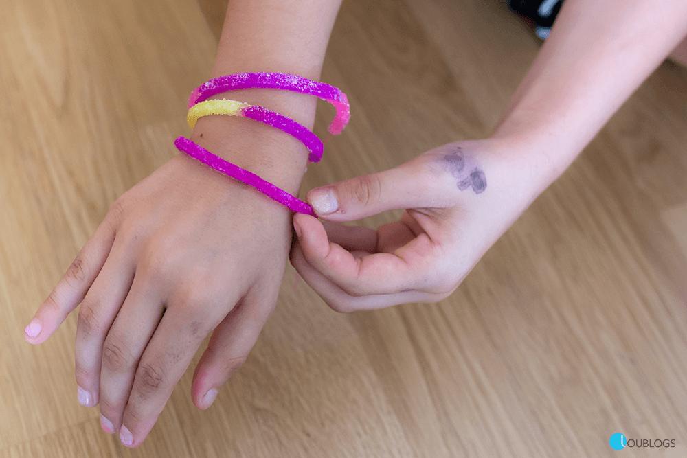 pulseras de purpurina