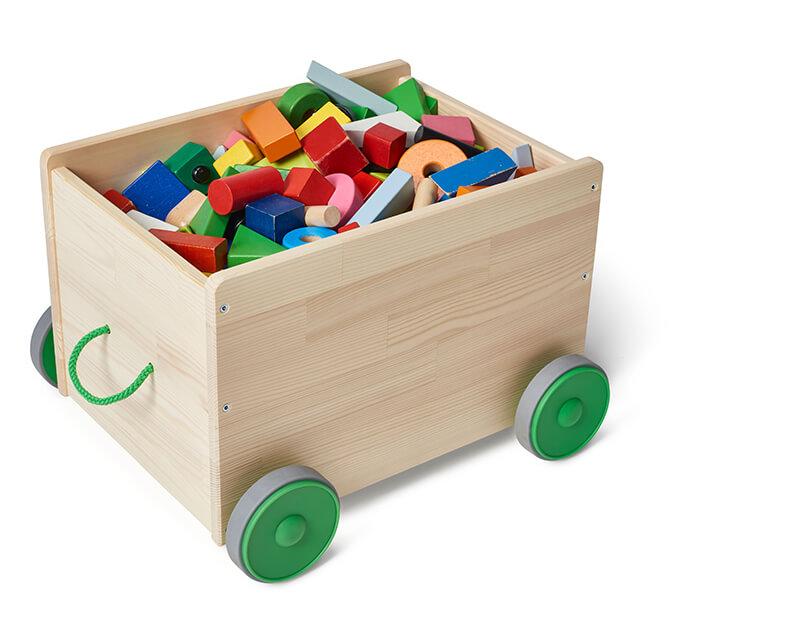 Almacenaje para juguetes con ruedas