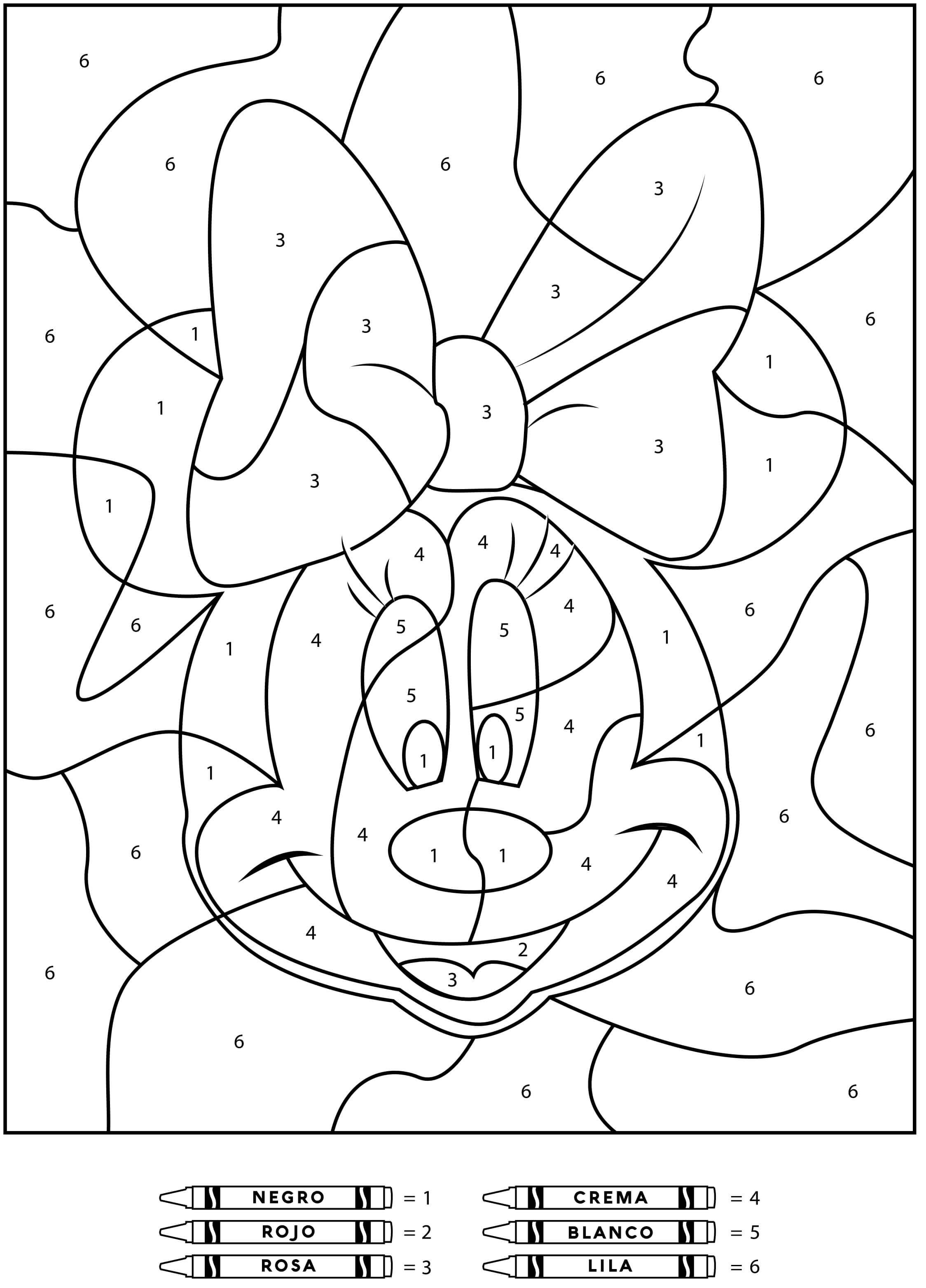 Dibujos para pintar a Minnie