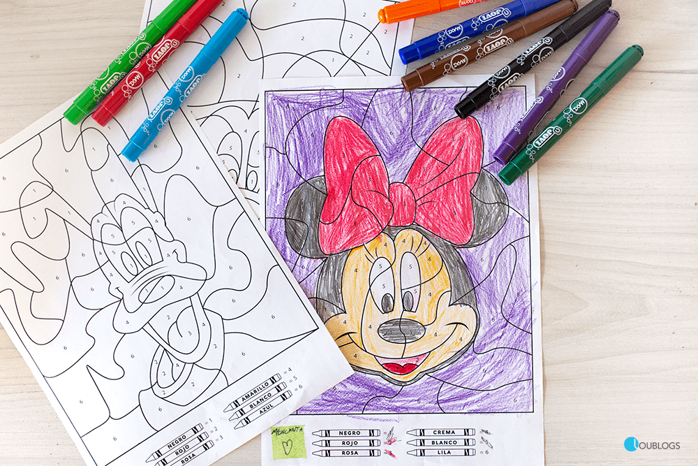 Colorear Con Números Dibujos De Disney