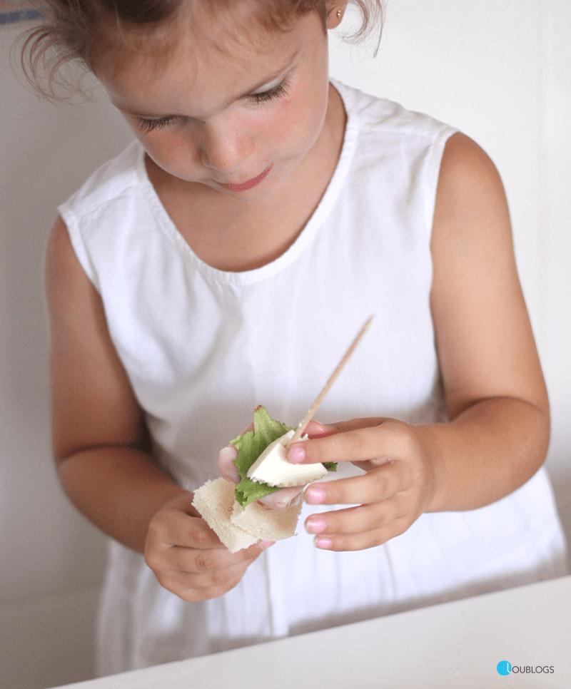 hacer sandwich para niños