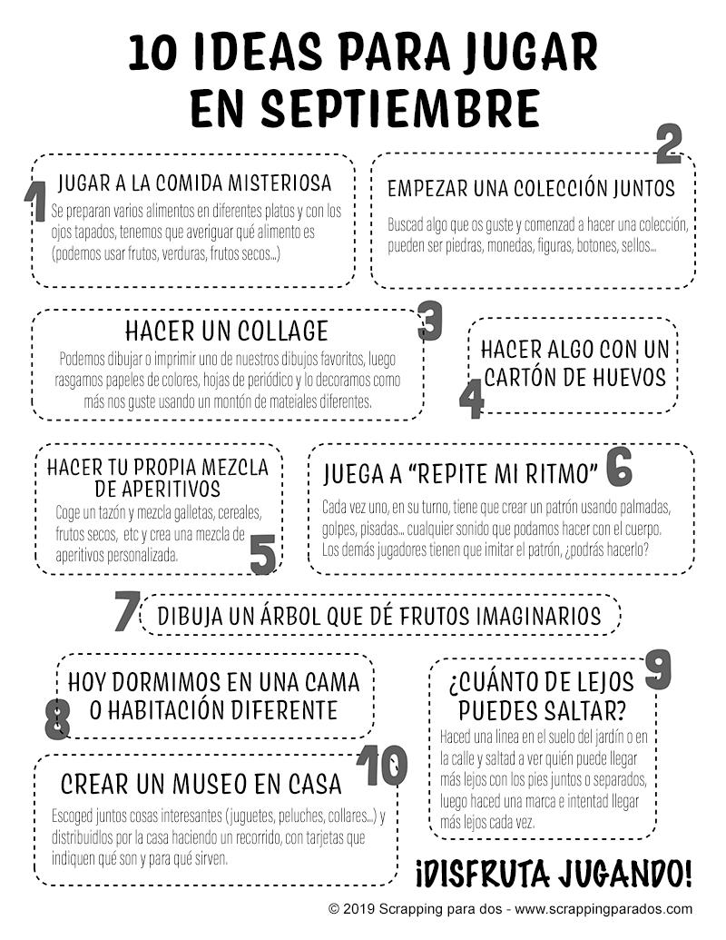 ideas para jugar con tus hijos en septiembre