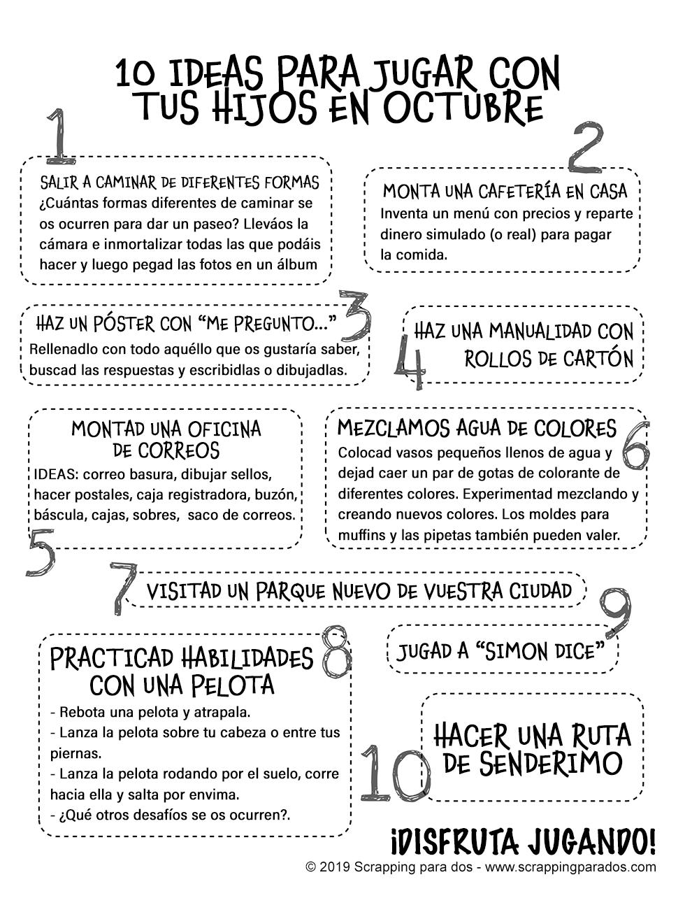 ideas para jugar con tus hijos en octubre